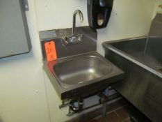 Single Basin Wash Sink, with Soap Dispenser (Upstairs Prep and Wash)