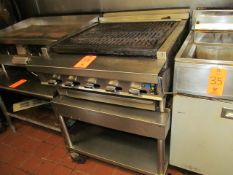 Montague Flame Grill Station, with (5) Temp. Controls and Stainless Steel Cart (Kitchen)