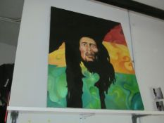 Bob Marley Portrait Painting (Upstairs Office)