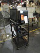 Zebra Model ZM400 Label Printer with HP Pavilion 23 Computer & Computer Cart (Plant #1)