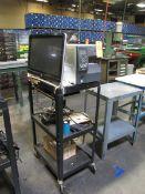 Zebra Model ZT410 Label Printer with HP Pavilion 23 Computer & Computer Cart (Plant #1)