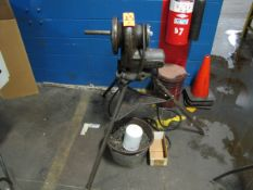 """Ridgid Model 200 Pipe Threading Machine, 2"""" Capacity, 1PH, with Pipe Roller Stand (Plant #1)"""