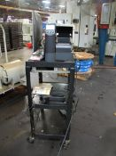 Zebra Label Printer with HP Pavilion Computer & Computer Cart (Plant #1)