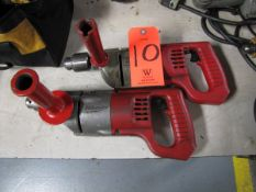Lot - (2) Milwaukee 1/2 in. Electric Drills, 0-600 RPM, (Missing Cords) (Plant #1)