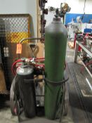2-Wheel Torch Cart with (2) Regulators, Torch Hose & Torch, (No Tanks) (Plant #1)