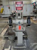 Baldor Model 1216W 10 in. Double-End Pedestal Grinder, 1 HP, 1425/1725 RPM, 208-220/440V, 3PH (Plant