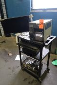 Zebra Model ZT410 Label Printer with Lenovo ThinkCentre PC, Acer 22 in. Monitor, & Computer Cart (