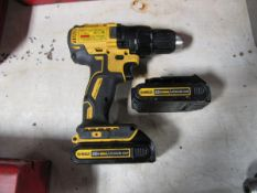 DeWalt Model DCD777 1/2 in. Cordless Drill Driver with (2) 20V Lithium Ion Batteries, (1) Battery