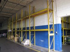 Lot - (6) Sections of Pallet Racking to Include: (7) 18' Uprights, (19) 6' Horizontals, (10) 4'