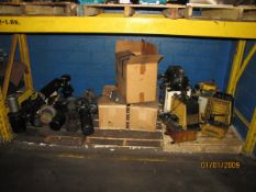 Remaining Contents of Pallet Racking to Include: Submersible Pumps with Motors, Oil Reservoirs, Mist