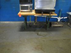 60 in. x 30 in. Butcher Block Style Work Bench, (No Contents) (Plant #1)