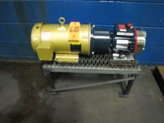 Baldor 5HP Motor, 184tC Frame, 1750RPM, with Hydra-Cell Mdl. D10SKSGHFECB Pump (Plant #1)