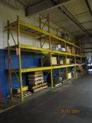 Sections of Pallet Racking to Include: (15) 18' Uprights, (60) 8' Horizontals, with Wooden