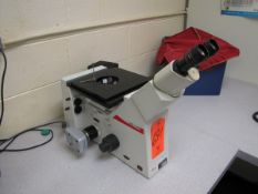 Leica Model DMIRM Microscope, with (2) 10X/22 Eyepieces, 5X, 10X, 50X, 100X Objectives, Paxcam