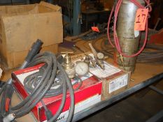 Lot - Welding Cables, Gages, Mini Acetylene Torch