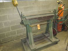 36 in. Apron / Flange Bender; on Portable Stand