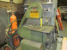 Lockformer Model 24-S Bett-Marr Vertical Band Saw, S/N: 3211; with 24 in. Throat, on Portable Stand