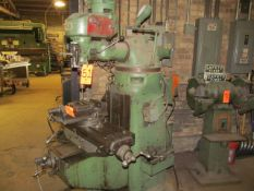 Bridgeport 1/2-HP Vertical Milling Machine, S/N: 7455; with 9 in. x 32 in. T-Slot Production Table