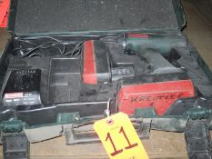 Metabo Battery Powered Electric Drill; with Charger, Battery & Power Cord, in Plastic Carry Case