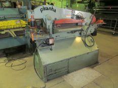 "Mega Mfg. Piranha P70 Ironworker, S/N: P70-257; with Working Surface: Platen 12"" x 21"", Coping 18-"