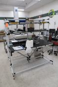 CMM Room Furniture to Include: (2) Wood Topped Tables, (2) Small Stainless Steel Tables, (2) 3-
