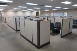 Office Furniture to Include: Approximately (17) Sections of Cubicles, (17) L-Shaped Desks, (9)