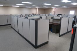 Office Furniture to Include: Approximately (14) Sections of Cubicles, (14) L-Shaped Desks, (16) 4-