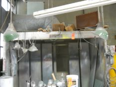 """Binks Paint Spray Booth; 7'6"""" L x 36"""" D x 72"""" H (Must Cut Exhaust Pipe Inside Building at First"""