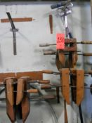 Lot - Wooden Clamps