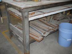 Metal Table; with Manual Shear