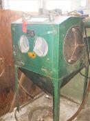 Clemco Model ACDFM Dry Blast Cabinet, S/N: 274; Gloves & Single Gun