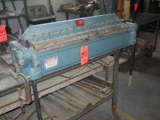 Enco 36 in. Model 130-5000 Finger Brake, S/N: 770750