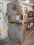 """DoAll 16 in. Model M-L Vertical Band Saw, S/N: 5317881; with Blade Welder & Grinder; 120"""" File &"""