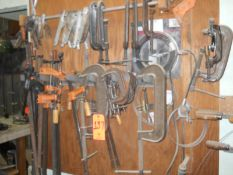 Lot - Metal C-Clamps & Adjustable Clamps