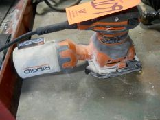 Rigid Model R2501 Electric Sander, with Dust Collection Bag, S/N: CS13122ND33840