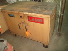 """Knaack Mfg. Co. Mobile Heavy Duty Locking Toolbox. Approx. Dims: 46"""" in. x 25"""" in. x 38"""" in. H."""