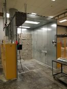 GFS Spray Booth, lighting & rear filtration, booth size approx. 8' x 10' x 10'H, top mounted exhaust