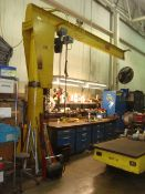 1/2-Ton Capacity Jib Crane With DeMag (Chicago) 1/2-Ton Electric Chain Hoist, Approx. 12' Span Reach