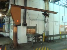 Abell- Howe 1/2-Ton Capacity Jib Crane With Yale 1/2-Ton Cable Hoist, Approx. 12' Span Reach With