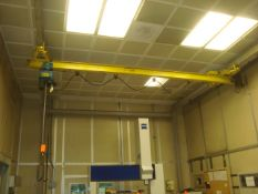Approx. 16' ft. 1/2-Ton Capacity Bridge Crane With DeMag 1/2-Ton Capacity Electric Chain Hoist.