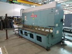 """Allsteel 1/2"""" - 10' Hydraulic Squaring Shear, 1/2"""" capacity mild steel, 3/8"""" capacity stainless"""