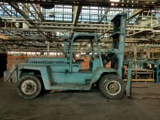 """Clark Model CHY 200L 10-Ton Capacity Diesel Forklift, Lift Height 180"""" in. Sn# CHY 1830D-18-2158,"""