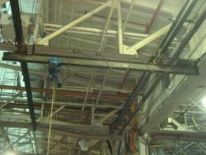Approx. 12' ft. 1/4 Ton Capacity Bridge Crane With DeMag 1/4-Ton Capacity Electric Chain Hoist