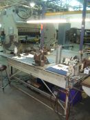 """Heavy Duty Steel Work Table/ Bench With Heavy Duty 4"""" in. Bench Vise, 3-Drawers & Overhead"""