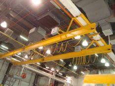 Harriman Material Handling Approx. 50' ft. Span 3-Ton Capacity Single Rail Bridge Crane With Powered