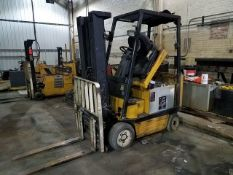 """Yale 4,000 lb. Capacity Electric Forklift With Side Shift, 189"""" in. Lift Height, 36V. Sn#"""