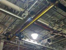 Demag 1-Ton Manual Bridge Crane, approx. 18' span, includes 1-ton electric chain hoist, 2-way