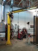 Contrx B1108 1/2-Ton Swinging Jib Crane, free standing, hoist not included. s/n 31792.