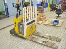 Yale Model MPE060LEN24T2748 6,000 lb. Capacity Worksaver Electric Stand Up Riding Lift Truck, 24V.