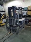 Crown Model FC 4020-50TT188 4,000 lb. Capacity Electric Forklift With Side Shift. Sn# 9A136368,